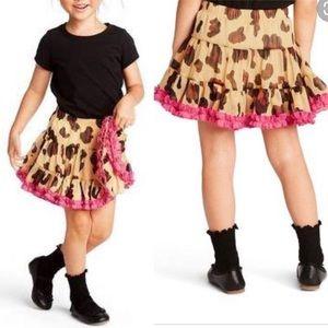 Harajuku Mini-A Line Tiered Leopard Mini Skirt-4T